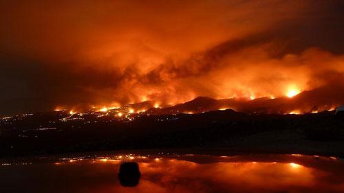 Fuego en la costa del sol Agosto 2012