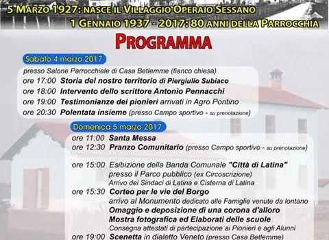 I Novant'anni di Sessano – Borgo Podgora – Latina