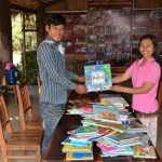 Sokha Pawson donates books to the CBT library