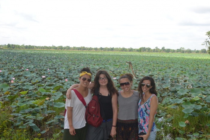 Visiting the baray