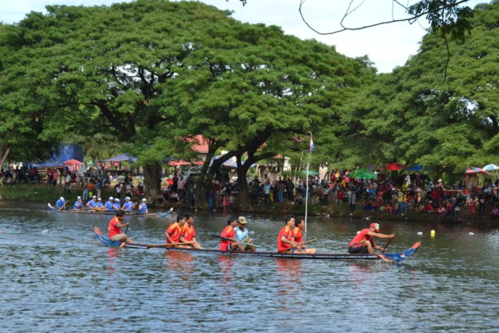 Boat racing during Water Festival