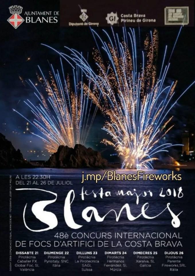 Focs de Blanes Fireworks 2018