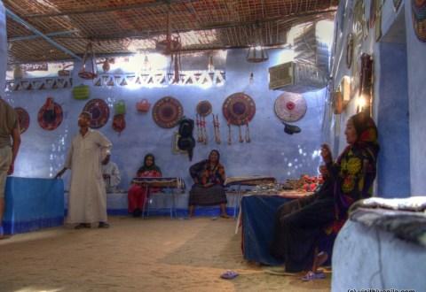nubisches dorf am nil
