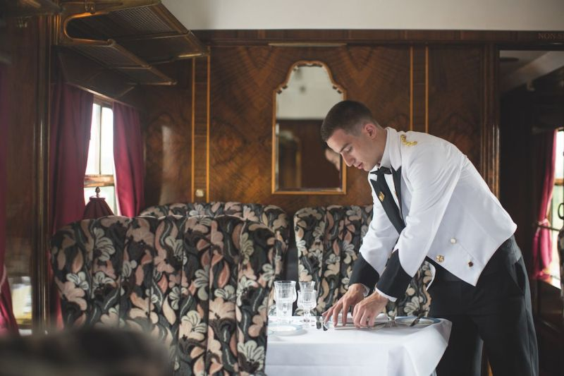 Inside a Belmond British Pullman carriage