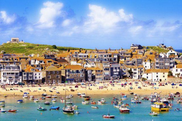 Het dorpje St Ives aan de kust van Cornwall, Engeland