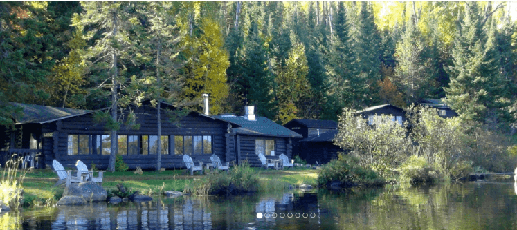 Exterior view of Loon Lake Lodge from the lake