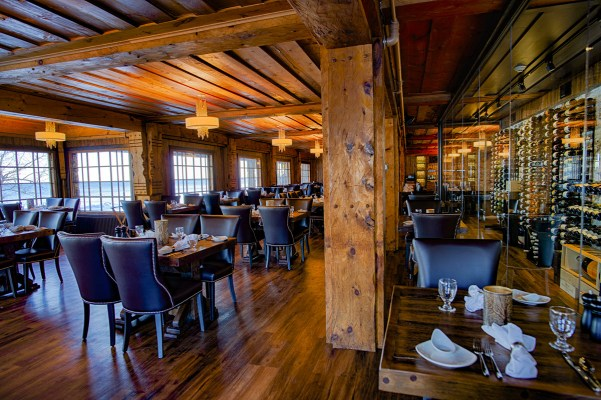 The Strand Dining room in Lutsen Resort on Lake Superior
