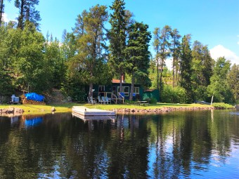 Seagull Canoe Outfitters & Cabins red cabin lakeview