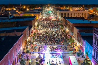 downtown Defiance during RibFest event