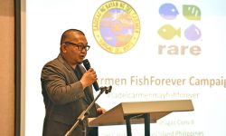 Mayor Alfredo Coro Ii Of Del Carmen Shares Speaks During A 2017 Event Held By Rare And Bureau Of Fisheries And Aquatic Resources