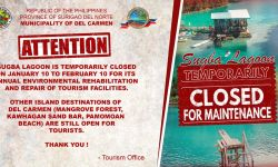 Sugba Lagoon Is Temporarily Close
