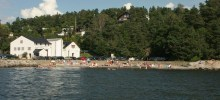 Torkilstranda – beach near to a very interesting Art Gallery.