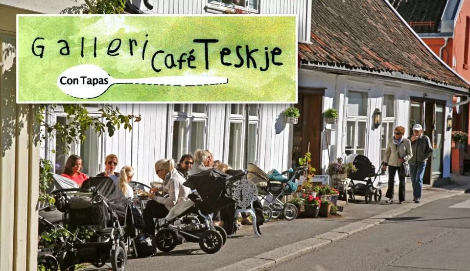 Galleri Kafé Teskje frister med Tapas og en plass i solveggen.