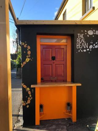 The hatch at the Real Bean in Quin. A new venture for Malachy's Bar.