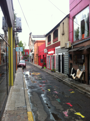 Charming colorful street in Palermo Soho in Buenos Aires