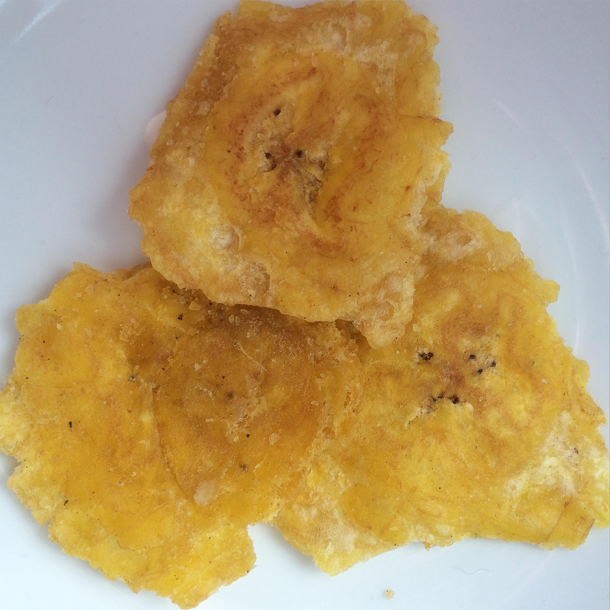 Ecuadorian food: Patacones and green plantain chips