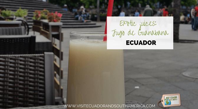 Exotic juices from Ecuador: Jugo de guanabana