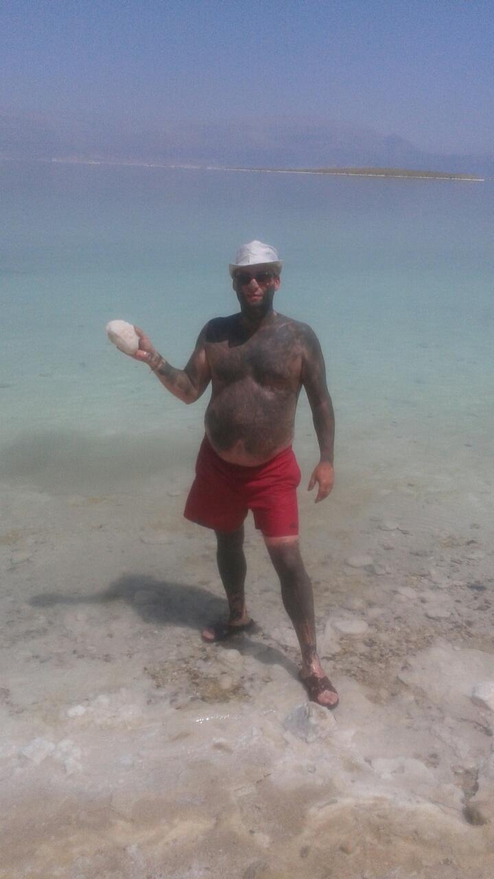 Barro en el Mar Muerto