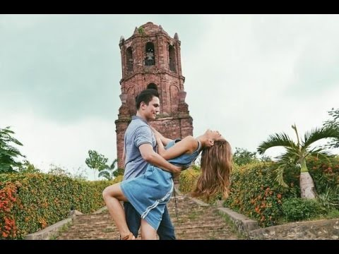 Filipino actors Tom Rodriguez and Lovi Poe outside Bell Tower Church | Source: LoviPoe.net