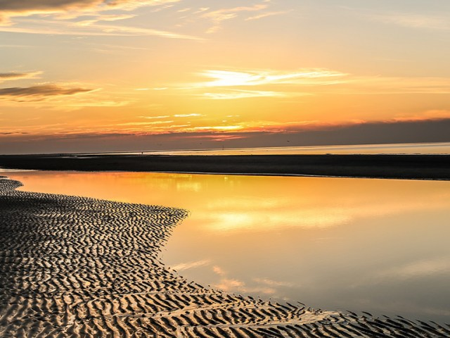 beach the netherlands sunset