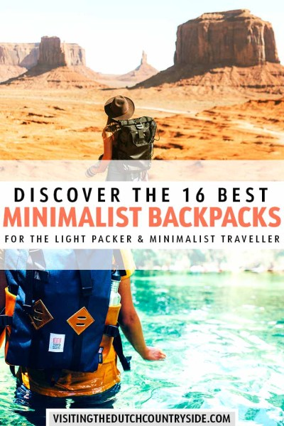 Travel to Europe, Africa, Asia, the Americas, Australia and even Antartica with the best minimalist backpacks for men and women. Including a classic minimalist backpack for laptops, hiking in Europe and more. Discover the best minimal hiking backpack and the best tips for backpack essentials when you travel to Europe. #europe #hiking #backpacks