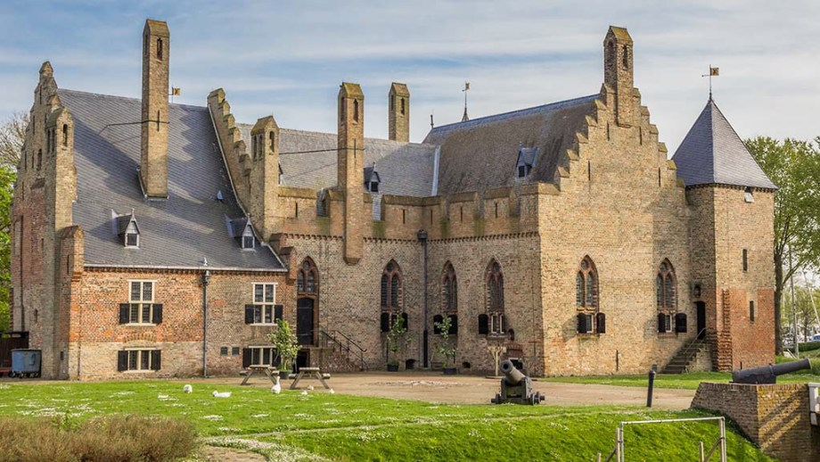 One of the Dutch castles in the province of Noord- Holland, The Netherlands. Castle Radboud is one of the castles in The Netherlands you must visit
