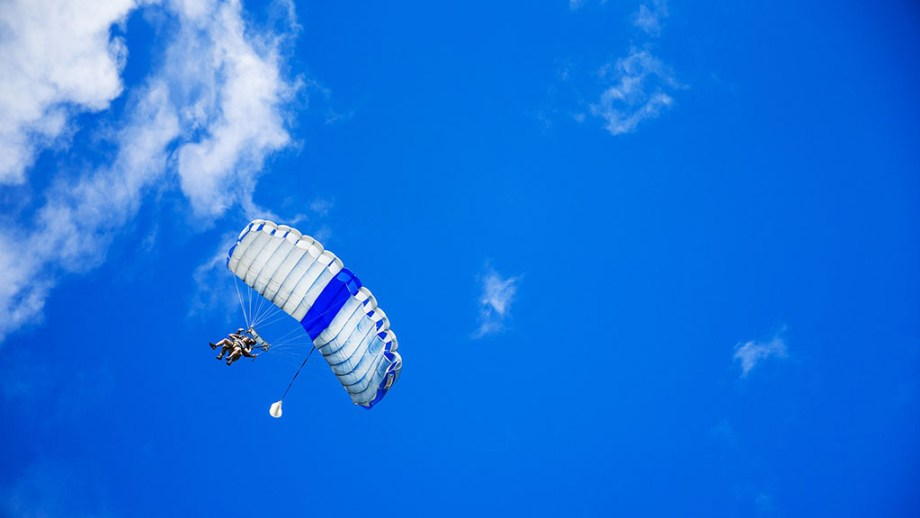 skydiving from the dutch island of texel in noord- holland, the netherlands