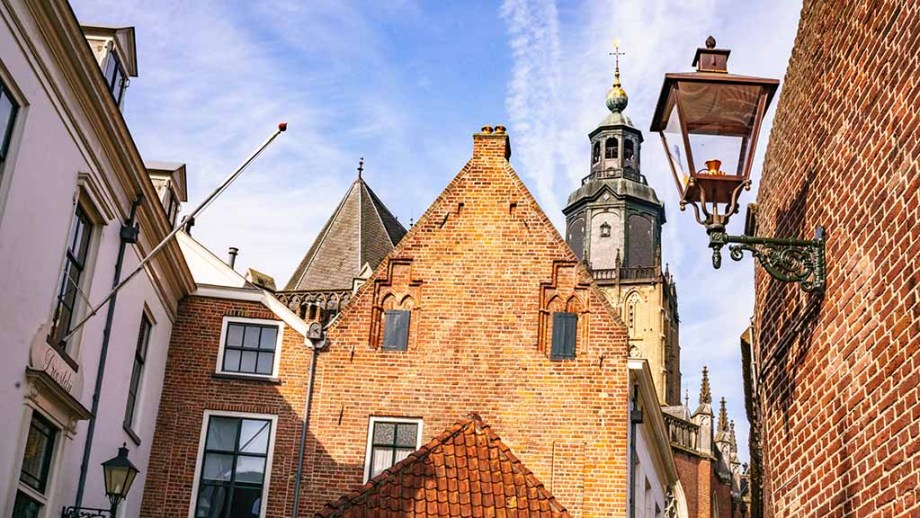 Monuments and buildings in Zutphen, Gelderland, The Netherlands.