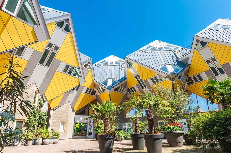 Cube houses in Rotterdam designed by Piet Blom