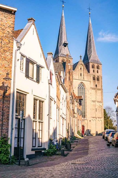 Bergkerk and one of the most beautiful neighbourhoods in Deventer: Bergquarter in Deventer, The Netherlands