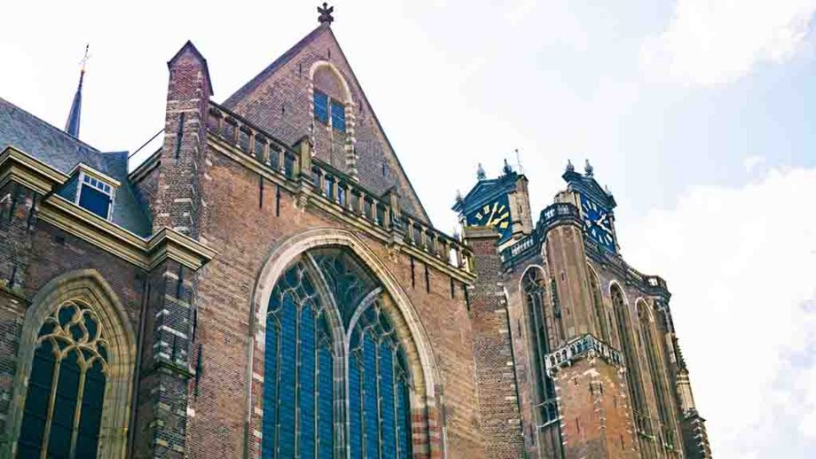 Grote Kerk in the Dutch city of Dordrecht; you can visit this church which is one of the things to do