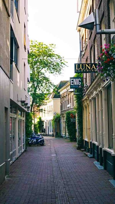 A beautiful street in Arnhem's seven streets shopping district
