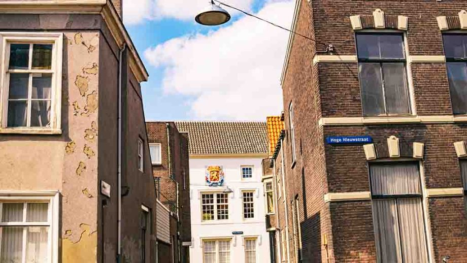 One of the most beautiful streets in Dordrecht, The Netherlands