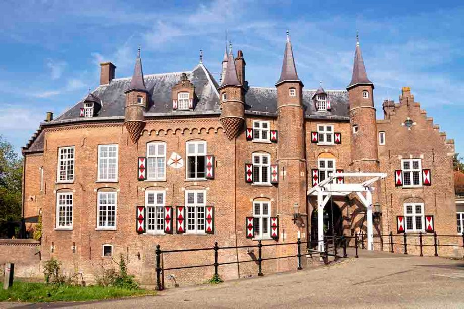 Old Dutch castle Maurick in the small Dutch town of Vught in Noord- Brabant, The Netherlands