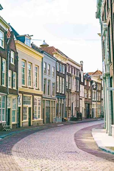 One of the many beautiful streets in Dordrecht, one of the must visit cities in The Netherlands