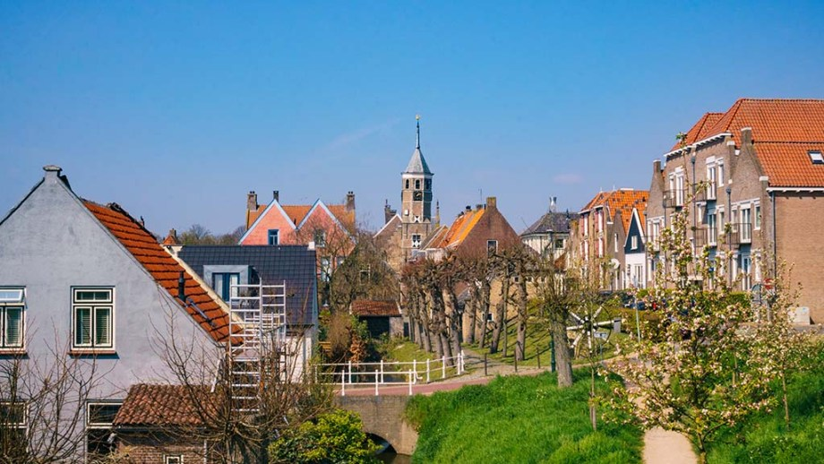 A view on the most picturesque part of Willemstad (Noord/ North- Brabant), The Netherlands