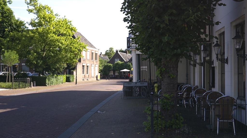 view of a street in the village of loenen aan de vecht, The Netherlands
