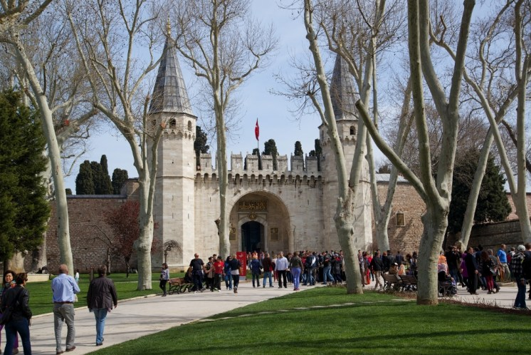 Gate of Salutation and First Courtyard Topkapi Palace Istanbul Turkey