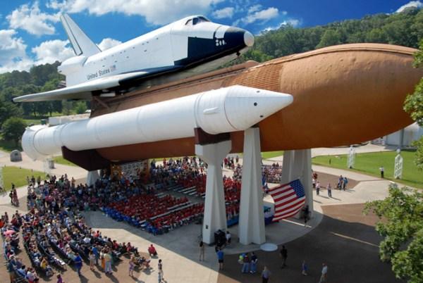 US Space Rocket Center Space Shuttle Pathfinder Developmental Orbiter Alabama