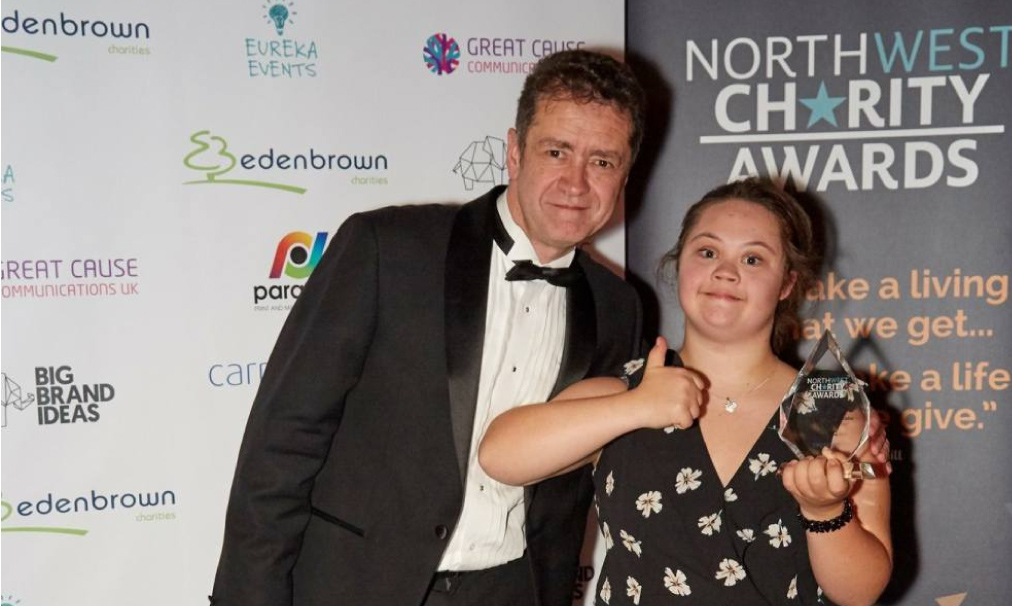 Cheshire Down's Syndrome Support Group Celebrate Awards Treble