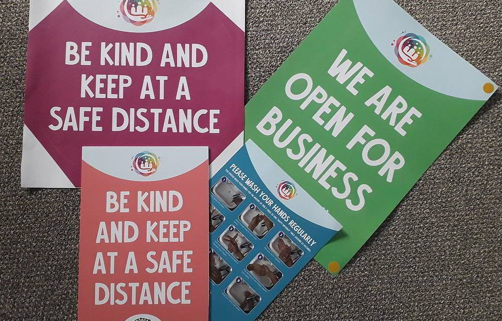 Northwich BID supplies social distancing materials to businesses