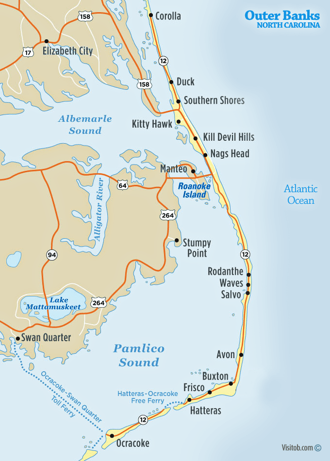 Image result for outer banks cities