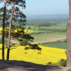 Views over Shropshire