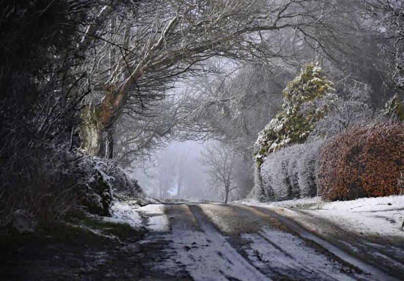 Snow on Back Racecourse Lane
