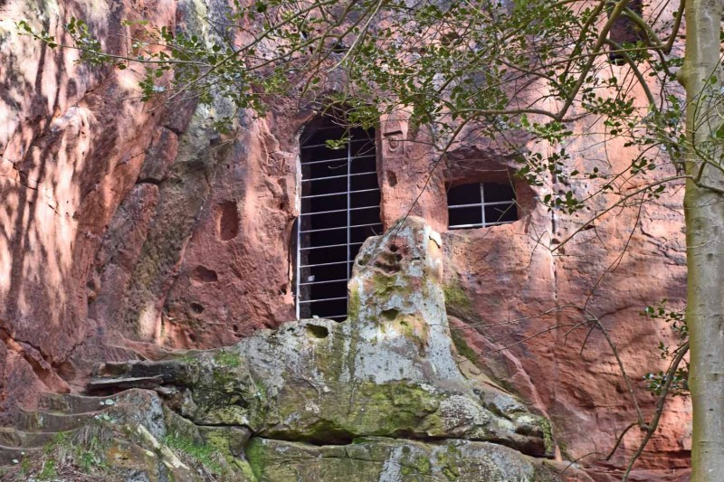 Highwayman's cave at Nesscliffe