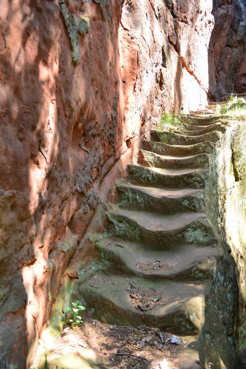 steps at Kynaston's Cave