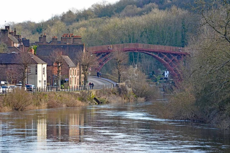View over the river at Ironbridge