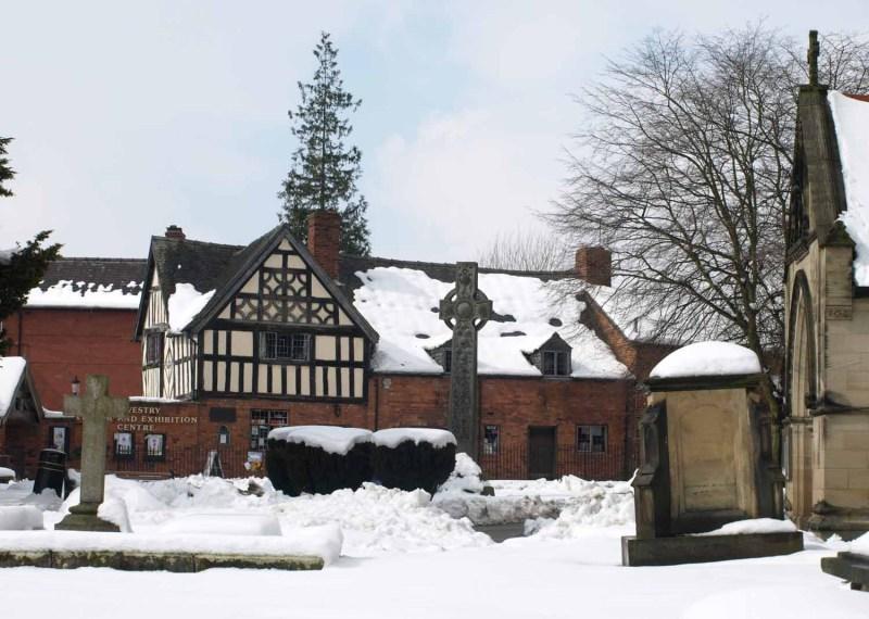 Old School Oswestry in winter