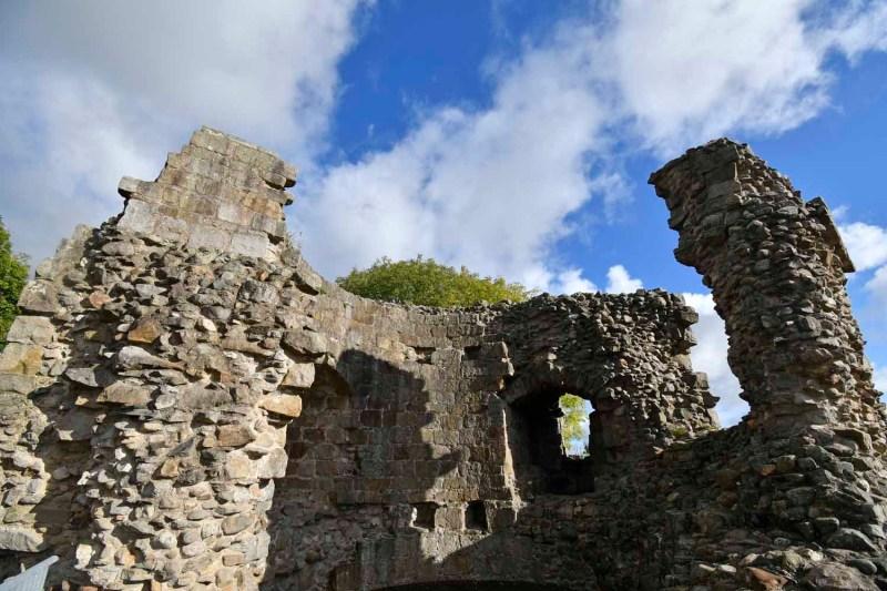 walls at Whittington Castle