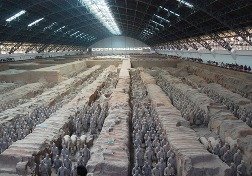 The Terracotta Army and Horses is One of China's greatest attractions and a UNESCO protected human masterpiece,Xi'an.